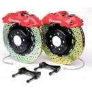 Brembo 1B1.7005A2 - Gran Turismo Big Brake Kit - Front, Drilled, Red, 4 Piston, 332x32 2-Piece