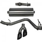 Corsa 14873BLK - Sport Cat-Back Exhaust System, Single Side Exit, 3.0 in. Dia., Black Pro-Series Tips