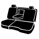 Fia TR42-92WINE - Wrangler Custom Seat Cover - TR Rear 60/40 Seat Cover