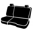 Fia TR42-94BLACK - Wrangler Custom Seat Cover - TR Rear 60/40 Seat Cover
