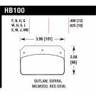 Hawk Performance HB509R.678 - Disc Brake Pad - Street Race w/0.678 Thickness - Front