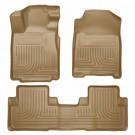 Husky Liners 98083 - WeatherBeater Floor Liners, Front & 2Nd Seat Floor Liners (Tan)