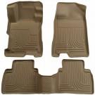 Husky Liners 98533 - WeatherBeater Floor Liners, Front & 2Nd Seat Floor Liners (Tan)