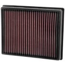 K&N 33-5000 - Air Filter, Panel, H-1.563 in., L-9 5/8 in., W-7.813 in.