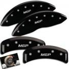 MGP Caliper Covers 32006SSR8BK - Silver Front and Rear SRT8 Engraved Caliper Cover - Black Powder Coat Finish (4-Set)