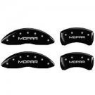 MGP Caliper Covers 32020S300BK - Silver Front and Rear 300 Engraved Caliper Cover - Black Powder Coat Finish (4-Set)