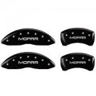 MGP Caliper Covers 32020S300MB - Silver Front and Rear 300 Engraved Caliper Cover - Matte Black Powder Coat Finish (4-Set)