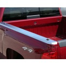 Putco 59587 - Skins NeverRust Stainless Steel Bed Rail Caps - 8 ft bed - will not fit dually beds