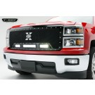 """T-Rex 6311181 - TORCH Series LED Light Grille 2 - 6"""" and 1 - 12"""" LED Bar, Formed Mesh Grille, Main, Replacement, 1 pc., Black Powdercoated Mild Steel, Replaces OE Grille"""