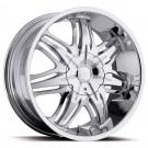 Ultra Wheels 415-2200C+15 - Patriarch Chrome w/Black Insert Rim