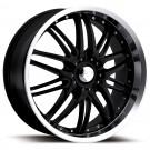 Ultra Wheels 200-6722HB+20 - Apex Hyper-Gloss Black w/Diamond Cut Rim