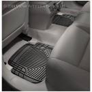 WeatherTech W50 - All-Weather Floor Mats - Rear Rubber Mats - Black