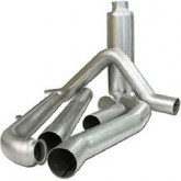 "Bully Dog 81052 - 5"" Aluminized Steel Turbo Back Single Exhaust Kit, Tip Included"
