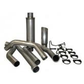 "Bully Dog 81400 - 4"" Aluminized Steel Turbo Back Single Exhaust Kit, Tip Included"