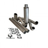 "Bully Dog 81401 - 4"" Aluminized Steel Turbo Back Single Exhaust Kit, Tip Included"
