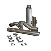 """Bully Dog 81412 - 5"""" Aluminized Steel Cat Back Single Exhaust Kit, Tip Included"""