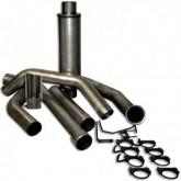 "Bully Dog 82400 - 4"" Aluminized Steel Turbo Back Single Exhaust Kit, Tip Included"