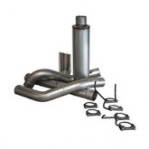 """Bully Dog 82401 - 4"""" Aluminized Steel Cat Back Single Exhaust Kit, Tip Included"""