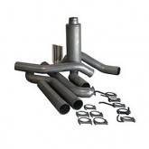 "Bully Dog 83010 - 4"" Aluminized Steel Turbo Back Single Exhaust Kit, Tip Included"