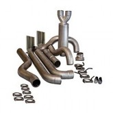 """Bully Dog 83240 - 4"""" Aluminized Steel Cat Back Dual Exhaust Kit, Tip Included"""