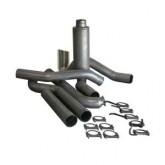 "Bully Dog 83400 - 4"" Aluminized Steel Turbo Back Single Exhaust Kit, Tip Included"