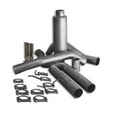 """Bully Dog 83401 - 4"""" Aluminized Steel Cat Back Single Exhaust Kit, Tip Included"""