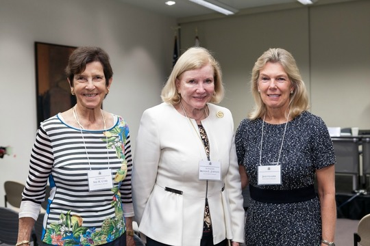 Ambassador Sue Cobb, Ambassador Brenda LaGrange Johnson and Mrs. Janet Glazer