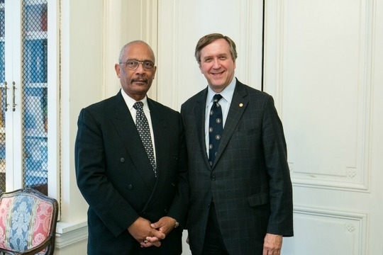 Under Secretary Francis X. Taylor and Ambassador G. Philip Hughes