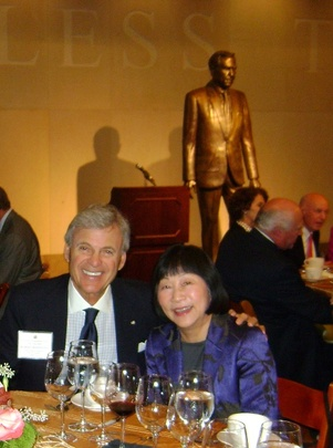 Ambassadors Stuart A. Bernstein and Julia Chang Bloch at the Bob Bullock Texas State History Museum