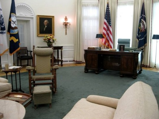 Replica of President Lyndon Johnson's Oval Office at the LBJ Library and Museum