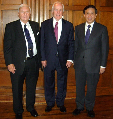 Ambassador Gilbert A. Robinson, Ambassador Lloyd N. Hand and H.E. Zhang Yesui, the Ambassador of China