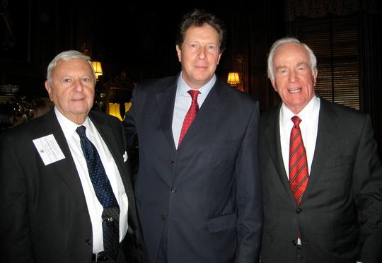 Ambassador Gilbert A. Robinson, H.E. Sir Nigel Sheinwald the Ambassador of the United Kingdom, and Ambassador Lloyd N. Hand