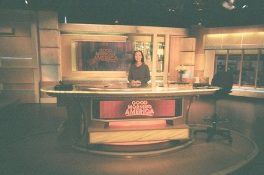 2009-2010 Davis Public Diplomacy Fellow Jinnie Lee on the set of Good Morning America