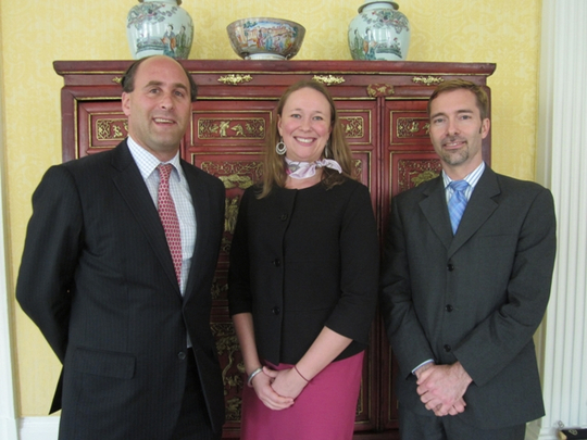 Davis Public Diplomacy Fellows Nick Snyder, Addie Schroeder and Joe Mellott at the Spring 2012 Conference