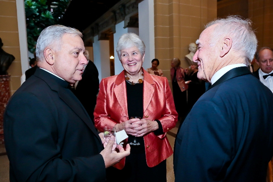 30th Anniversary Gala: Father William L. George, S.J., Carol Walker and Ambassador George H. Walker III. Photo credit Tony Powell
