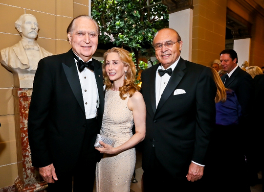 30th Anniversary Gala: Ambassador John L. Loeb, Jr., Sharon Handler Loeb and Ambassador Abelardo L. Valdez. Photo credit Tony Powell