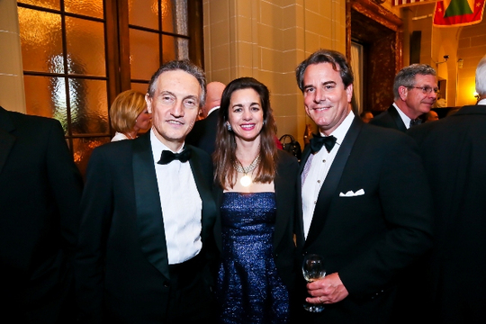 30th Anniversary Gala: The Ambassador of Italy H.E. Claudio Bisogniero, Gwen Holliday and Ambassador Stuart W. Holliday. Photo credit Tony Powell