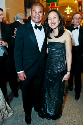 30th Anniversary Gala: International Affairs Alumni Fellows Samuel Semwangu and Carol Yu. Photo credit Tony Powell