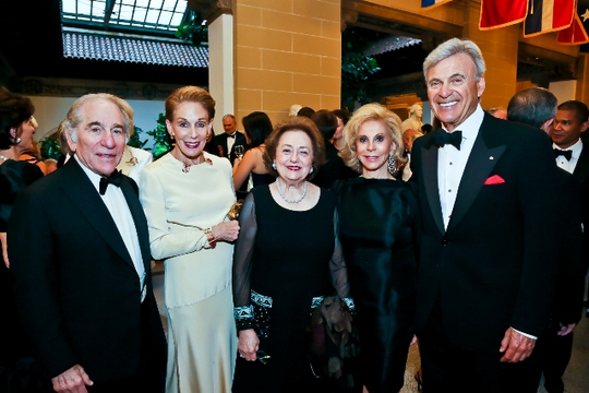 30th Anniversary Gala: Ambassador Sam Fox, Melinda Blinken, Marilyn Fox, Wilma Bernstein and Ambassador Stuart Bernstein. Photo credit Tony Powell