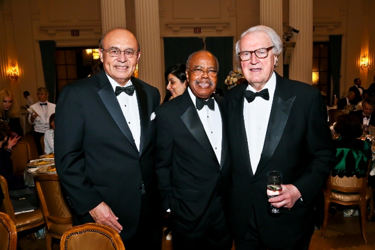 30th Anniversary Gala: Ambassadors Abelardo L. Valdez, Donald F. McHenry and William J. vanden Heuvel. Photo credit Tony Powell
