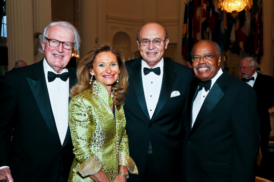 30th Anniversary Gala: Ambassador William J. vanden Heuvel, Marine McHenry, Ambassador Abelardo L. Valdez and Ambassador Donald F. McHenry. Photo credit Tony Powell