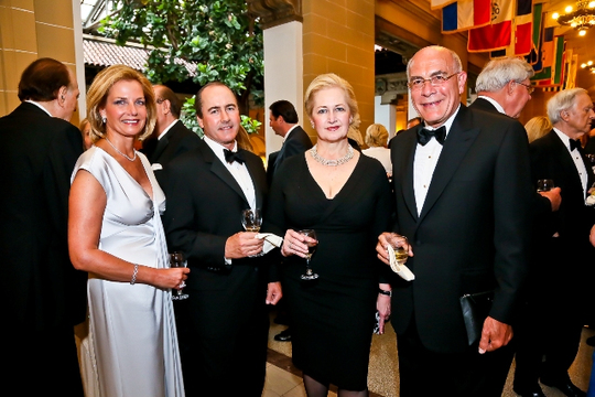 30th Anniversary Gala: Lisa Gordon-Hagerty, Walter Houston, Mara Kalnis-Ghafari and Ambassador Yousif B. Ghafari. Photo credit Tony Powell