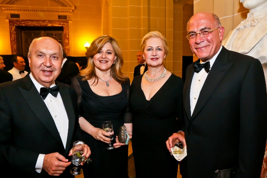 30th Anniversary Gala: The Ambassador of Lebanon H.E. Antoine Chedid, Nicole Saba, Mara Kalnis-Ghafari and Ambassador Yousif B. Ghafari. Photo credit Tony Powell