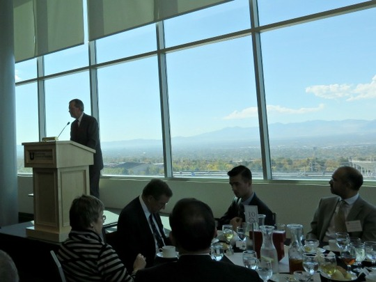 Former Utah Governor and United States Secretary of Health and Human Services Michael O. Leavitt was the luncheon keynote speaker.