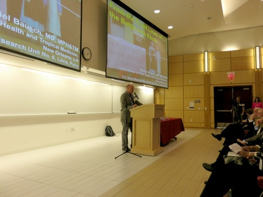 Dr. Daniel Bausch discussed the Ebola crisis in West Africa.
