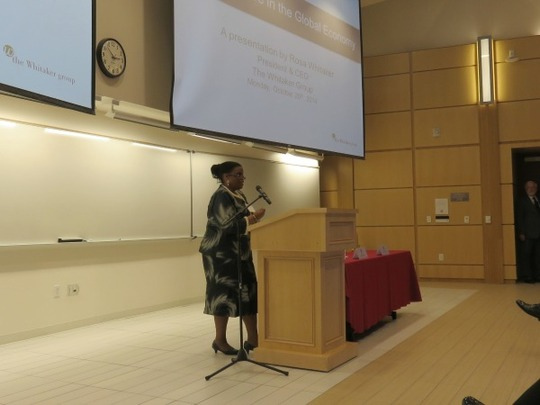 Ms. Rosa Whitaker discussed Africa's economy and AGOA.