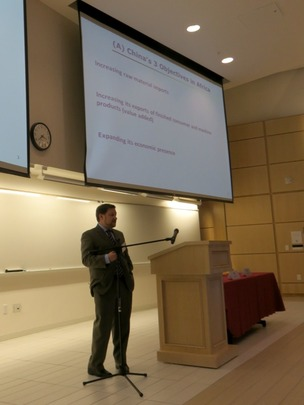 Dr. Joshua Eisenman discussed China's role in Africa.