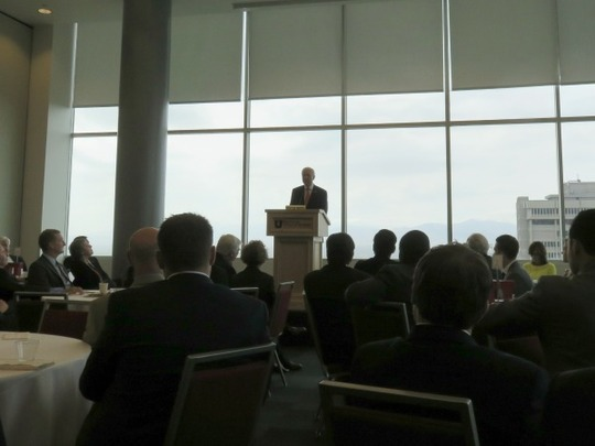 US Senator Orrin Hatch discussed the importance of AGOA at the conference luncheon.