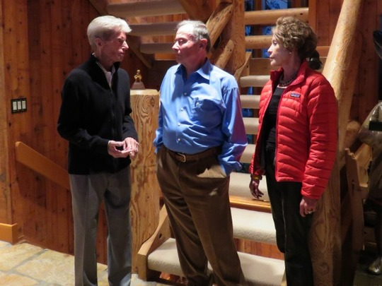 Stein Eriksen, legendary alpine ski racer and Olympic gold medalist, and Ambassador and Mrs. Price welcomed the CAA delegation and guests to Deer Valley, UT.