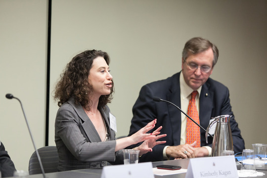 Dr. Kim Kagan and Ambassador G. Philip Hughes
